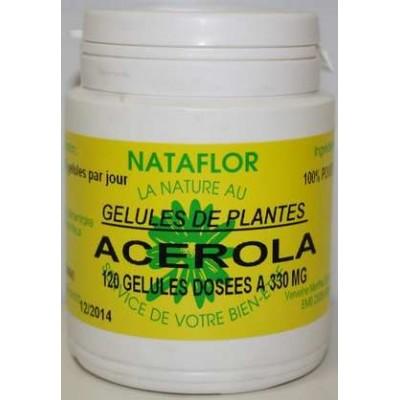 GELULES ACEROLA 120 gélules dosées à 330 mg.