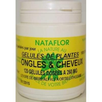 Ongles et cheveux 120 gélules 260 mg poudre pure