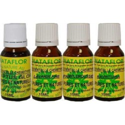 Pack 4 huiles essentielles pour respirer nature.