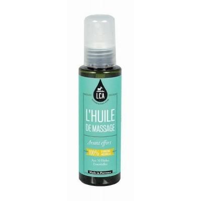 Huile de Massage Avant Effort aux Huiles Essentielles 100 ml - LCA Aromathérapie