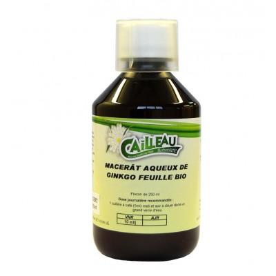 Macérat Aqueux de Ginkgo - Feuille Bio - Flacon de 250 ml - Cailleau