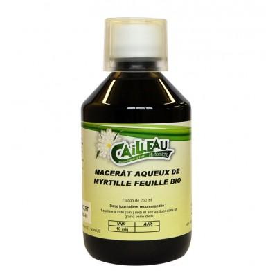 Macérat Aqueux de Myrtille - Feuille Bio - Flacon de 250 ml - Cailleau