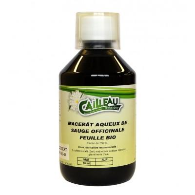 Macérat Aqueux de Sauge Officinale - Feuille Bio - Flacon de 250 ml - Cailleau