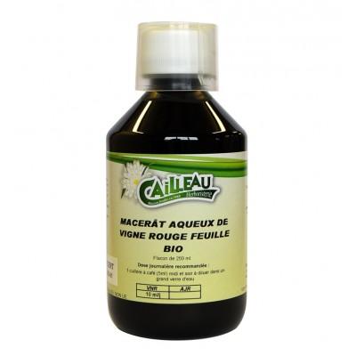Macérat Aqueux de Vigne Rouge - Feuille Bio - Flacon de 250 ml - Cailleau