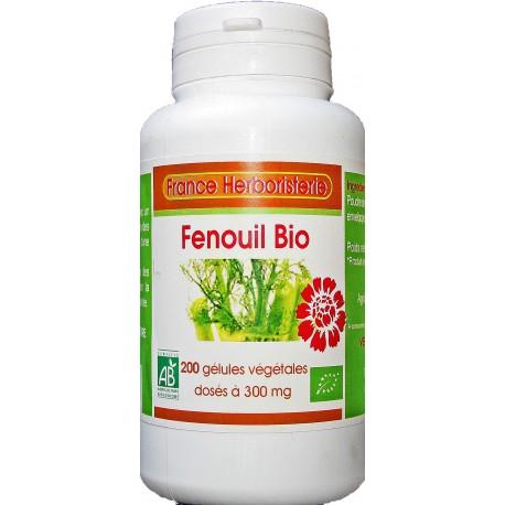 200 gélules FENOUIL BIO AB dosées à 300 mg.