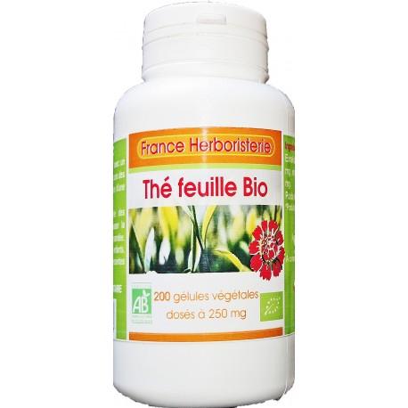 200 gélules THE VERT BIO AB dosées à 250 mg.