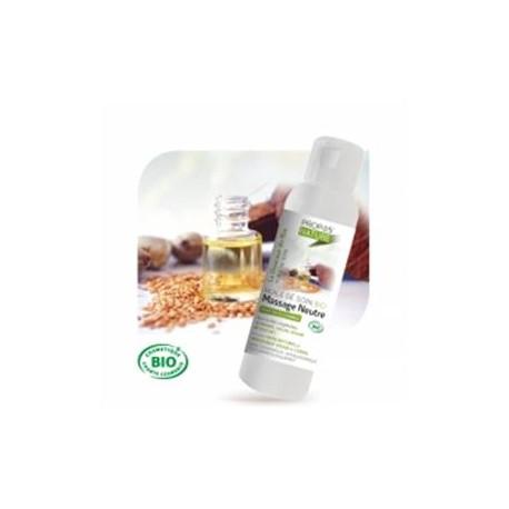 L'huile de soins massage NEUTRE BIO 200 ML.