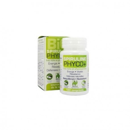 Spriruline BIO PHYCO+ 120 comprimés.