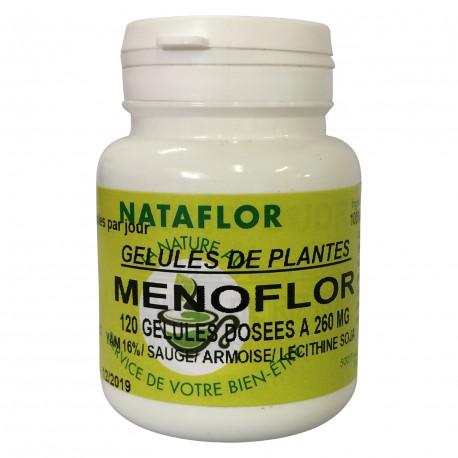 Menoflor 100 gélules à 260 mg poudre pure.