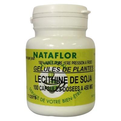 HUILE LÉCITHINE DE SOJA 100 capsules dosées à 450 mg