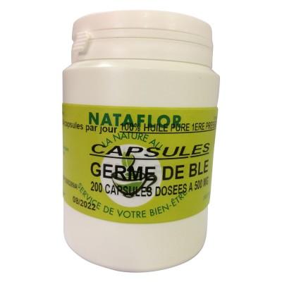 HUILE GERME DE BLE 200 capsules dosées à 500 mg.