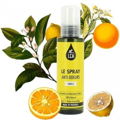 Spray Anti-Odeurs aux huiles essentielles 100 ml - LCA Aromathérapie