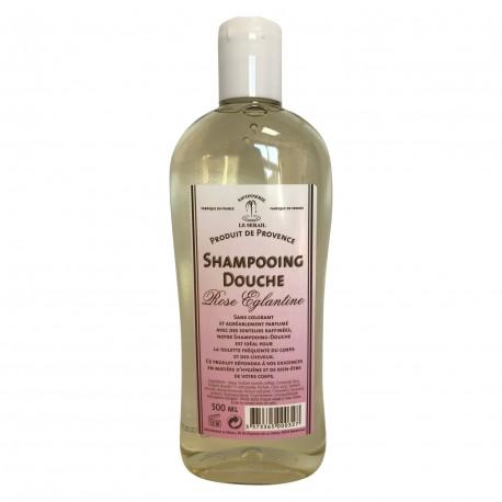 SHAMPOOING DOUCHE à la ROSE EGLANTINE 500 ml