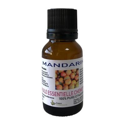 HUILE ESSENTIELLE MANDARINE ROUGE BIO Citrus reticulata 15 ml.