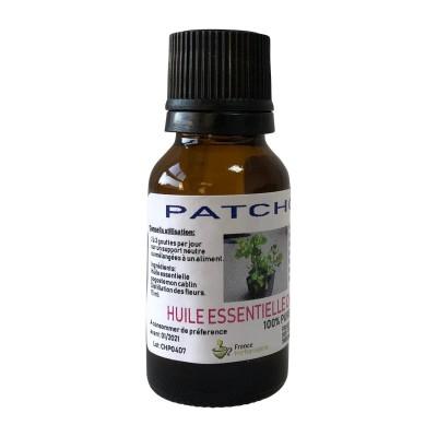 HUILE ESSENTIELLE PATCHOULI Pogostemon cablin 15 ml.
