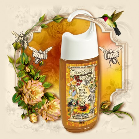 Shampooing douche Miel Propolis Orange - Anti-pelliculaire - ApiVie