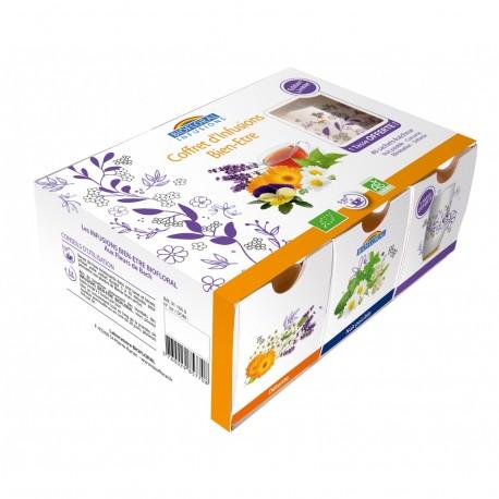 Coffret d'infusions bien-être 4 x 10 sachets + 1 tasse offerte - BIOFLORAL