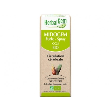 HERBALGEM MIDOGEM FORTE en spray- Circulation Cérébrale - BIO 10 ml