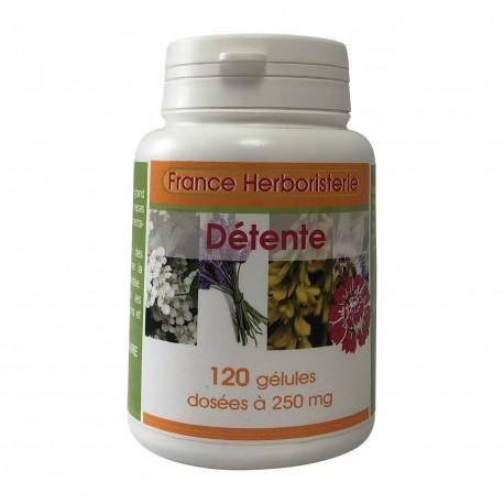 Complexe détente 120 gélules dosées à 260 mg.