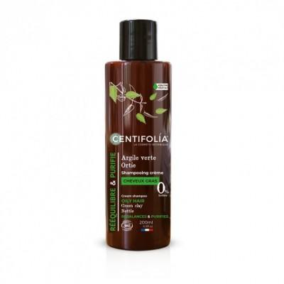 Shampooing crème cheveux gras - 200mL - Centifolia
