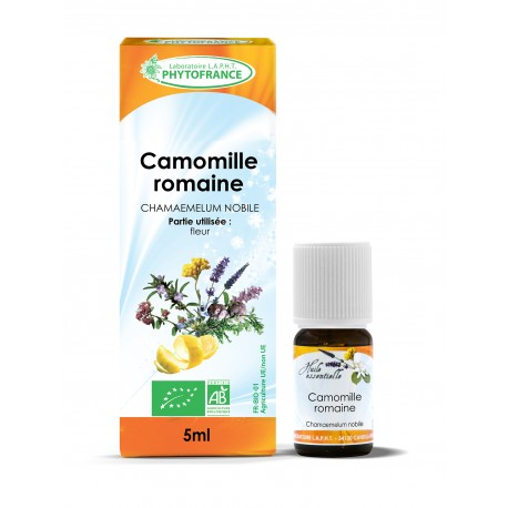 HUILE ESSENTIELLE BIO AB Camomille Romaine - Phytofrance - 5 mL
