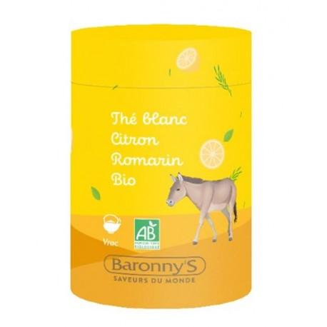 Infusettes Thé blanc, Citron, Romarin - Barrony's