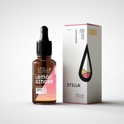 HUILE CBD 20% citron/gingembre - 10ml