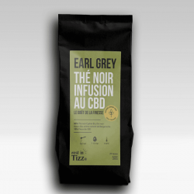THÉ NOIR BIO INFUSION AU CBD EARL GREY - 50g