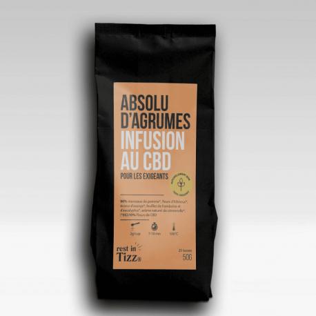 INFUSION BIO AU CBD ABSOLU D'AGRUMES- 50g