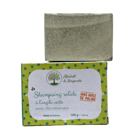 Shampooing solide à l'Argile Verte - Cheveux gras