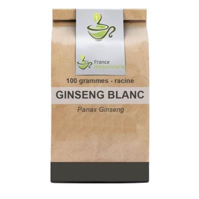 Tisane Ginseng blanc racine 100 GRS Panax ginseng