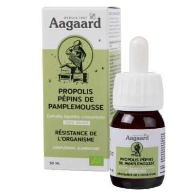 Propolis et extrait de pépins de pamplemousse gouttes 30ml - Aagaard
